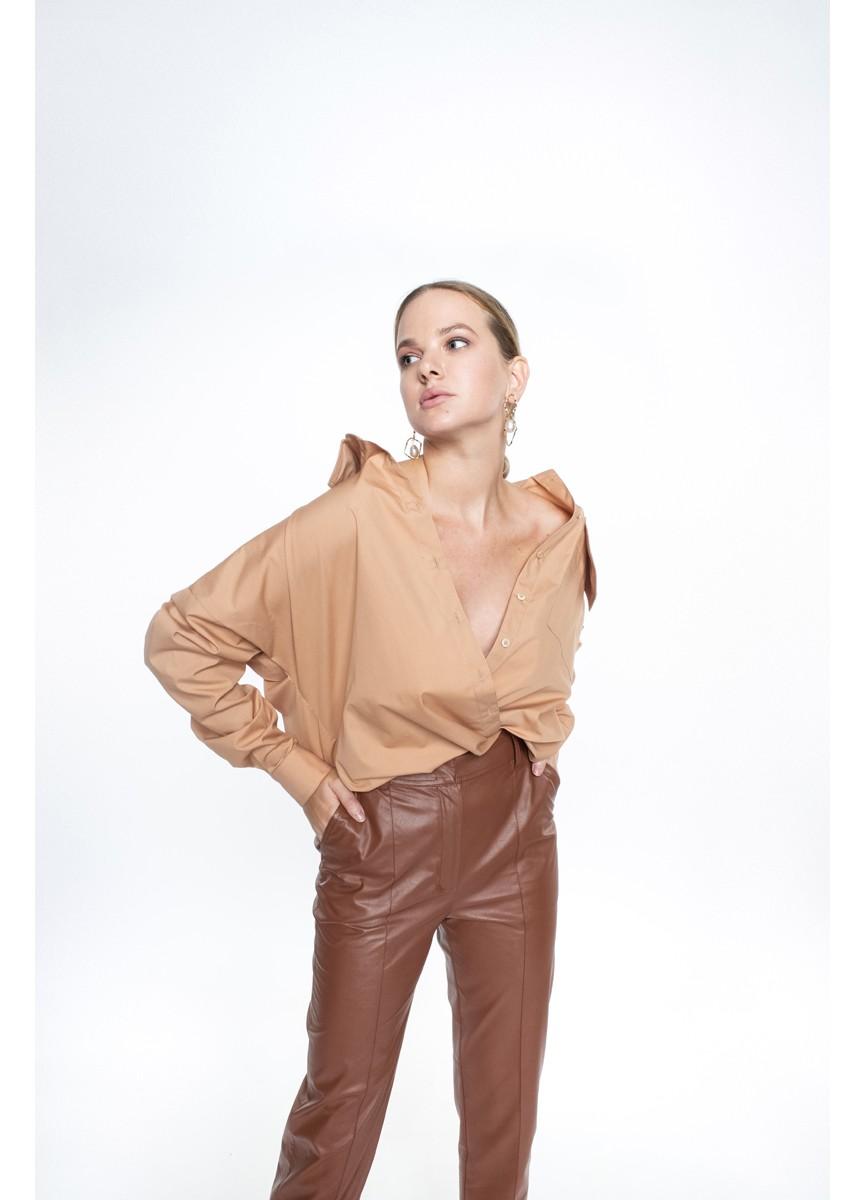 Рубашка объёмного кроя LoV.concept, карамель