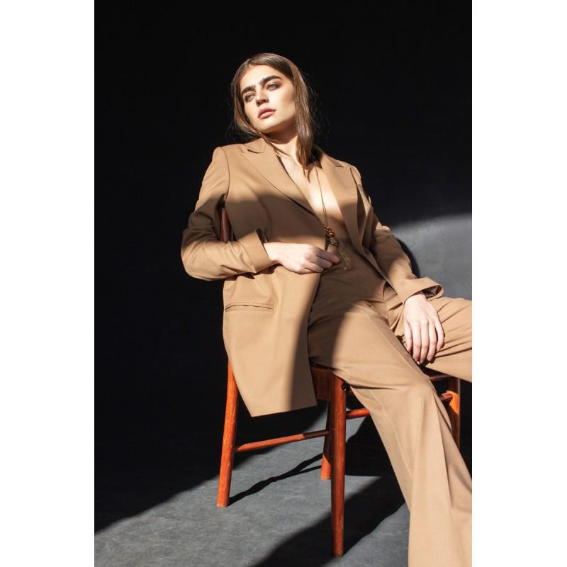 Пиджак в мужском стиле LoV.concept, карамель